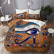 667 Bedding-Duvet Cover Set,Egyptian Papyrus