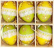 6pcs Plastic Easter Eggs Colorful Lace Decorated
