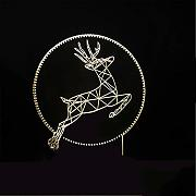 7 colori che cambiano 3D Led Deer Jumping Abstract