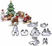 8 Pezzi Set 3D Christmas Stereo Cookie Stampo In