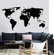 84x42cm decalcomania Decor Poster Grande mappa