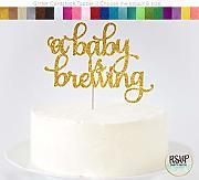 A Baby is Brewing Cake Topper A Baby Is Brewing