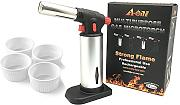 a-one creme Brulee Torch set con 4 terrine