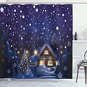 ABAKUHAUS Natale Tenda da Doccia, Winter Night