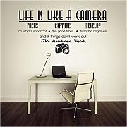Adesivi Murali 68Cm * 35Cm Life Is A Camera Quotes