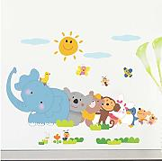 Adesivi Murali Cartoon Animals For Kids Room