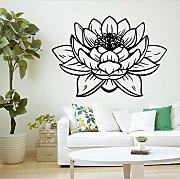 Adesivi Murali In Vinile Decor Lotus Flower Buddha