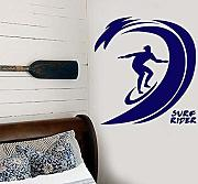 Adesivi murali Pvc Surf Camera da letto Art Decal
