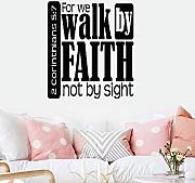 adesivo murale 32x24 For We Walk By Faith Not By