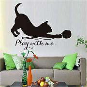 Adesivo Murale 75Cm * 58Cm Cat Play With Me