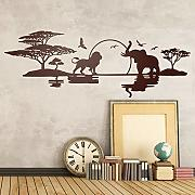 Adesivo murale Art Design Savannah Skyline Home