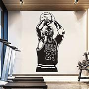 adesivo murale Basket Michael Jordan 23 Home For