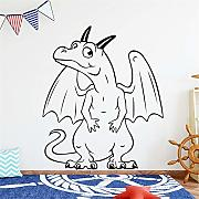 adesivo murale Dinosaur with Wings Decor for Kids