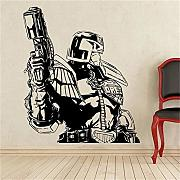 Adesivo Murale Judge Dredd Superhero Sticker