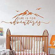 Adesivo murale Life is for Adventures Mountain