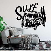 Adesivo Murale Moderno Surf The Wave With Camper