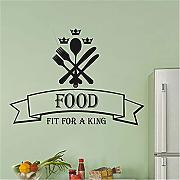 adesivo murale mondo bambini Food Fit For A King