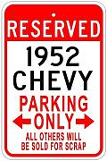 Aersing Metal Sign 1952 52 Parking Sign Gift for