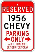Aersing Metal Sign 1956 56 Parking Sign Gift for