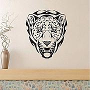 African Animal Leopards Head Wall Stickers per