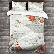 AIMILUX Set Biancheria Letto,Cherry Blossom with