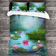 AIMILUX Set Biancheria Letto,Fantasy Pond with