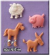 Alphabeth Moulds - Stampo silicone animali
