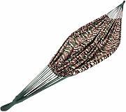 Amaca Blu Doppia Imbottita Legno Marrone in larice Siberiano Resistente alle intemperie 100/% Cotone Ampel 24 Set Amaca Island da Outdoor con Kit di Sicurezza e con Telaio Madagaskar 400 cm