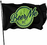 AmyNovelty Flag Banners,Beer Me Logo Bandiere