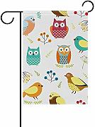 AmyNovelty Seasonal Garden Flag,Simpatici Gufi