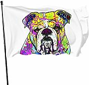 AmyNovelty Seasonal Garden Flags,Bulldog Bandiere