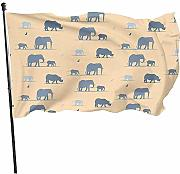 AmyNovelty Yard Flags,Elefanti Bandiere Familiari