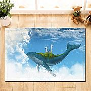 Animal Decor Whale Carrying Building nel cielo