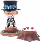 Anime One Piece figura fasciatura sabo scultura