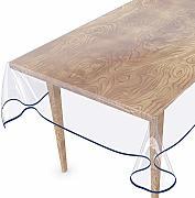 antiscivolo Tovaglia in PVC lavabile in plastica trasparente protettiva per tavolo in legno per mobili proteggi tavolo in cristallo trasparente spesso 1,5 mm per tavolo da pranzo impermeabile