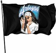 AOOEDM Flag Aaliyah Magic Flag 3x5 Decorazioni