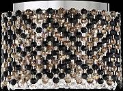 Applique a luce in ferro fatto a mano con cristallo molato e