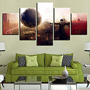 Art painting Modular poster 5 pezzi film science