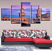 Art room wall pictures decoration stampa 5 pezzi
