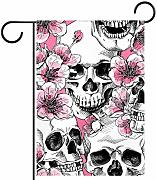 ART VVIES Fashion Skull And with Flowers Pink