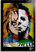 Arthole.it Chucky e Michael Myers - Quadro Pop-Art