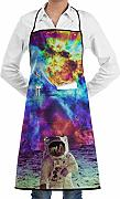 Astronauta Outer Space Trippy Art Grembiuli