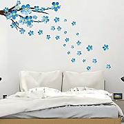 AWYUAN Blue Plum Wall Sticker Art Decals Soggiorno