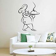 AWYUAN Decorare Chef Art Wall Sticker Decorazioni