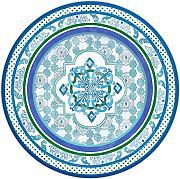 PIAT1.MIL01 Set 6 Piatti Piani in Porcellana Baci Milano d.26,5 Lavabile in LAVASTOVIGLIE