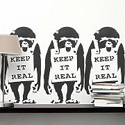 Banksy Stampo - Keep It Real Scimmia |