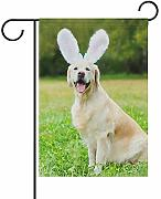 Banner Di Cantiere Happy Golden Retriever Cane Con