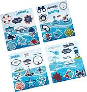 Baoblaze 4pcs Wall Stickers Under Sea Design Room