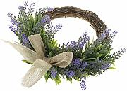 Baoblaze Rattan Artificial Lavender Wreath Ring