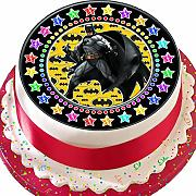 Batman nero Star Border Birthday pretagliato